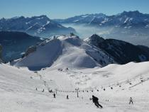 Leysin skiing