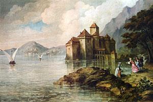 casteelo di chillon nel XVIII sec