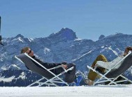 I piaceri dell'inverno sulle montagne Svizzere