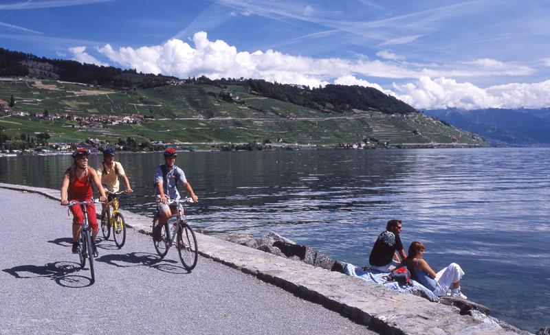 Bicicletta Vaud Lago Ginevra