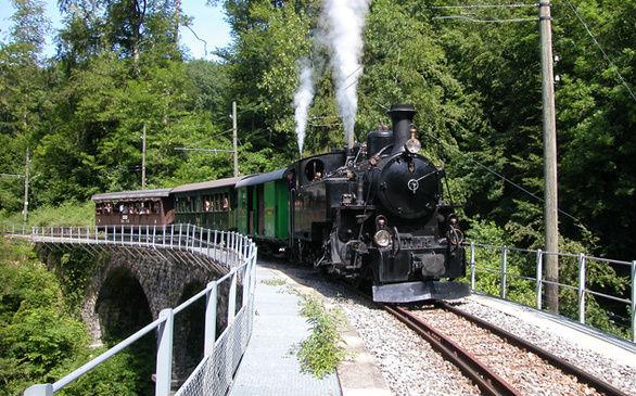 treno a vapore - museo ferroviario Blonay-Chamby